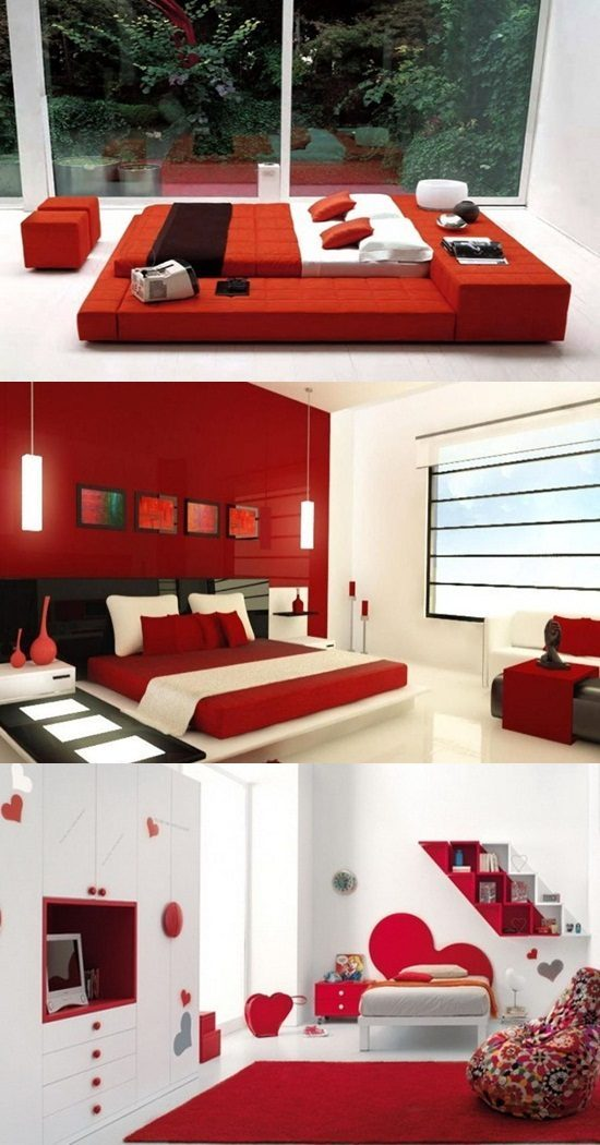 Amazing red bedroom designs interior design for Bedroom designs red