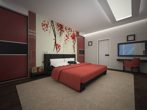 Amazing Red Bedroom Designs