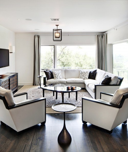 Ideas For Interior Design: Black And White Living Room Interior Design Ideas