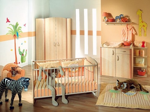 Cool baby room decorating ideas interior design - Deco babybed ...