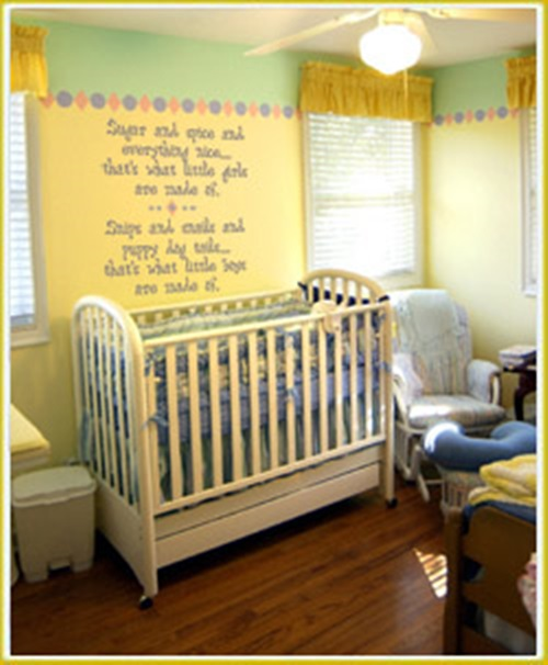 Cool baby room decorating ideas interior design for Baby mural ideas