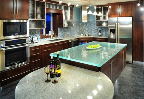 Explore the pros and cons of glass countertops interior design - Glass kitchen countertops pros and cons ...