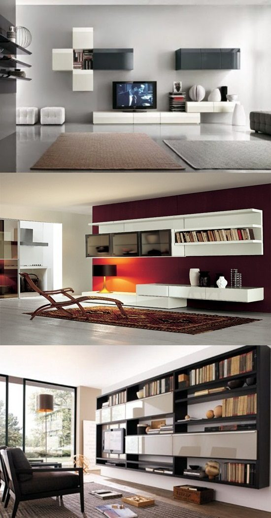 Modern living room wall units designs interior design Wall units for living room design