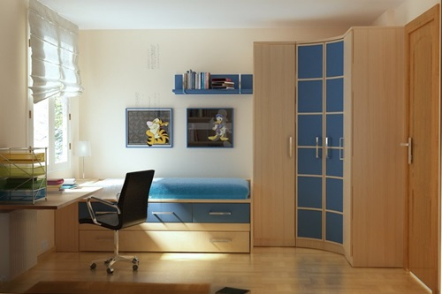teen bedroom design ideas for small spaces - Interior Teen Bedroom Design