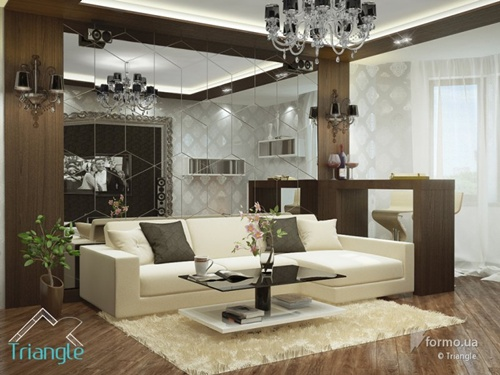 Apartment Decor With Large Open Living Room Interior Design