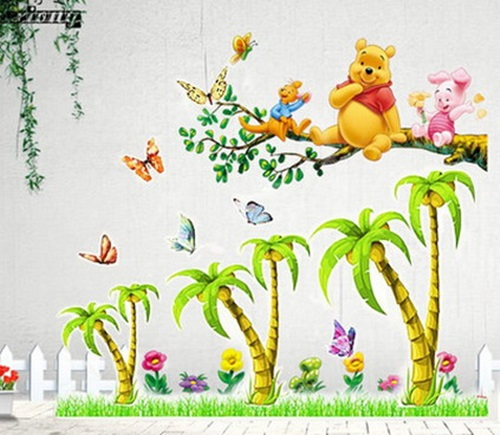 cool wall stickers for a kid s room decoration interior birds amp love tree wall decals for kids rooms