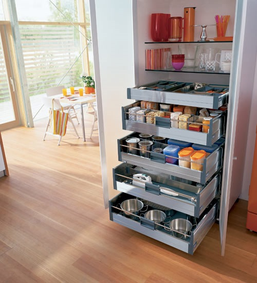 Creative storage solutions for small kitchens interior design - Small spaces storage solutions image ...