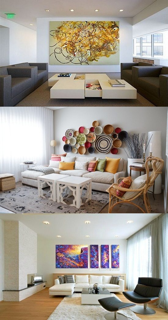 Creative Ways To Decorate A White Walled Living Room Interior Design