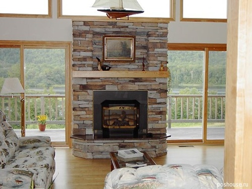 Decorating a living room with a fire place