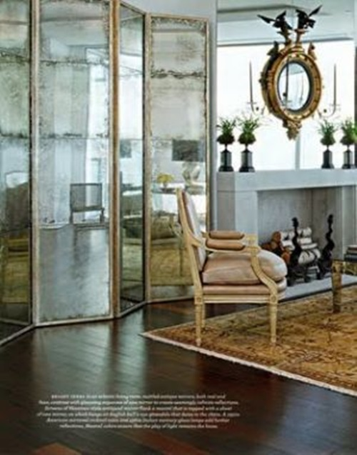 Fabulous mirror room dividers