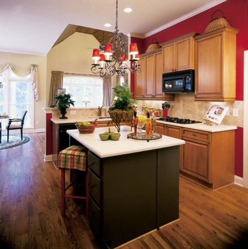 Idealistic Kitchen Design using Marble, granite and Natural Wood