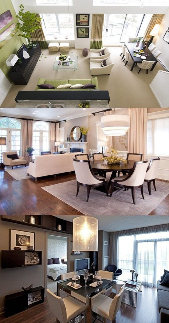 Perfect ways to decorate a living room with a dining area - How to decorate a dining room ...