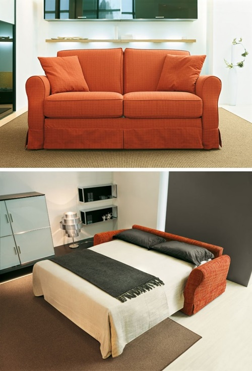 Sofa beds futons for small rooms interior design - Small space convertible furniture image ...