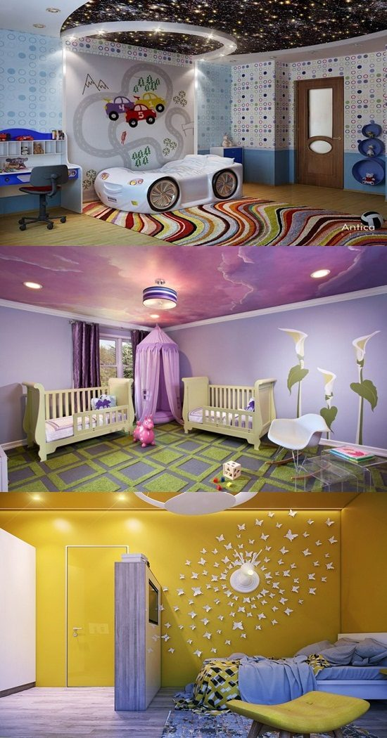 Kids Room Interior Design Ideas: Ceiling Designs And Fun Decorating Ideas For Kids' Rooms