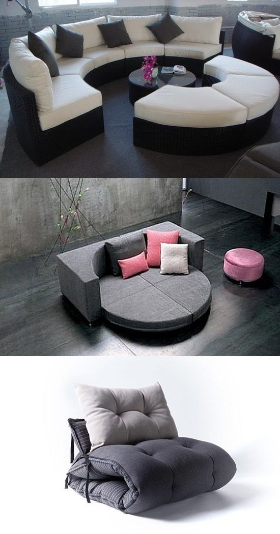 Comfortable Transformable Furniture for Seating and Sleeping
