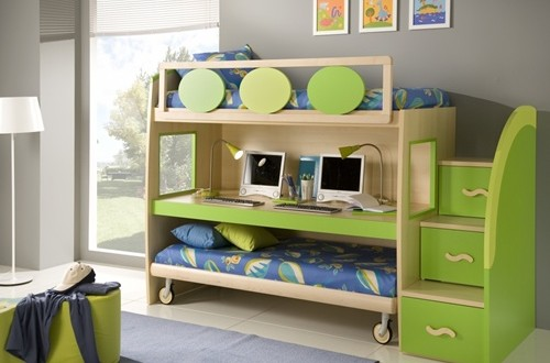 Multi Functional Beds For Small Kids Bedroom Interior