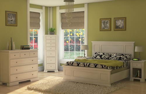 Calming Green Bedroom Design Ideas - Interior design
