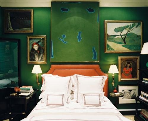 Calming green Bedroom design ideas