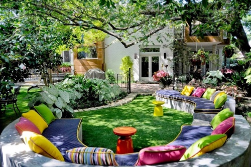 Colorful Chic Outdoor Furniture Garden Cushions Interior design