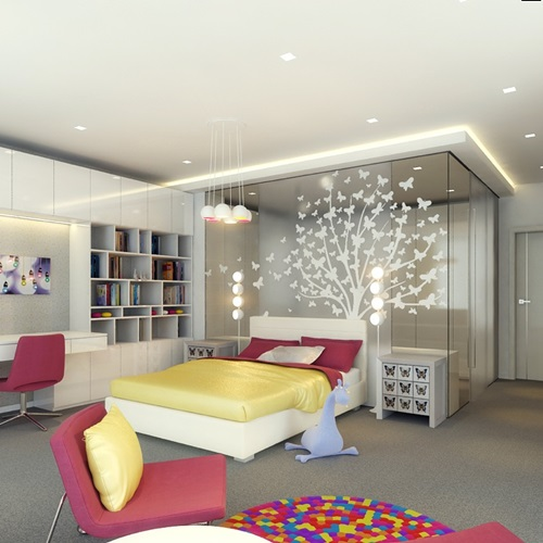 Colorful teen bedroom design ideas interior design for Interior designs of bedrooms pictures