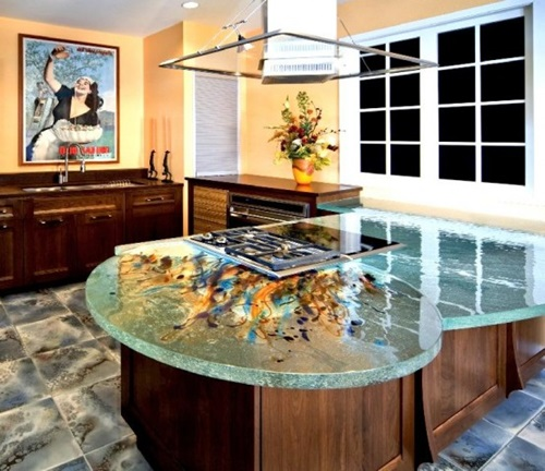 Cool Kitchen Designs with Glass Tops