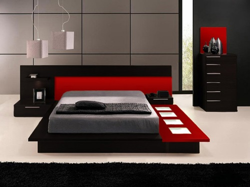 how to decorate a bedroom with black lacquer furniture interior