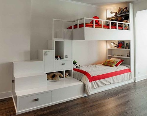 Innovative beds for narrow kids room