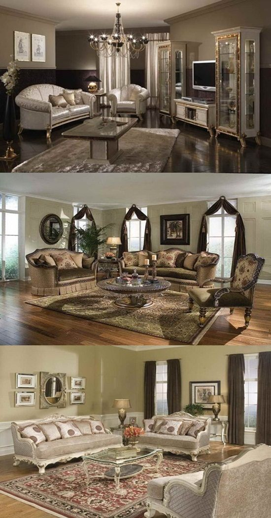 The advantages of traditional living room furniture interior design for Traditional living room furniture stores
