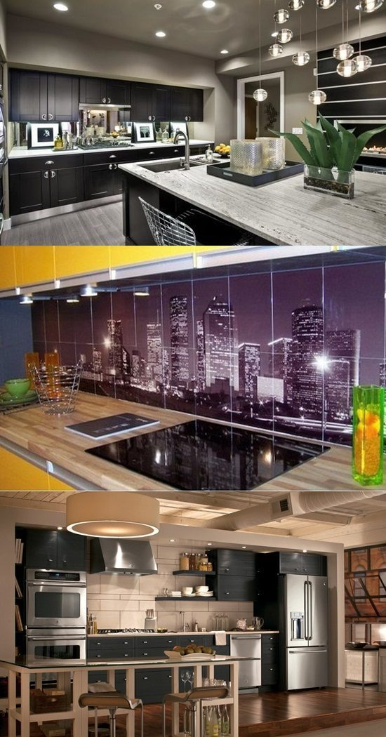 Urban Kitchen Backsplash Decorating Style