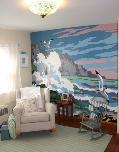 Wall and painted murals interior design - How to paint murals on bedroom walls ...