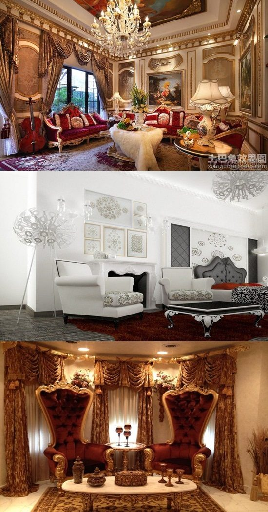 Barque Decor Living Room: Baroque Living Room Ideas