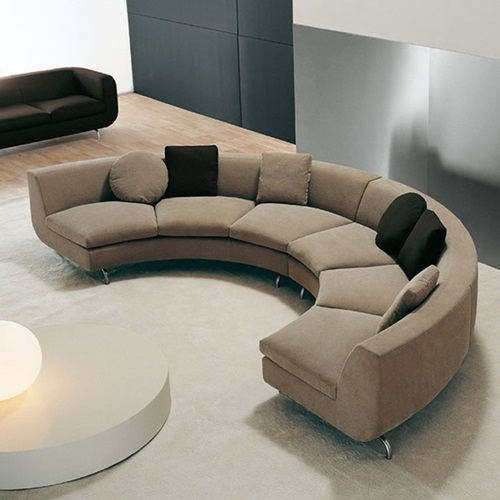 Curved Sofa Sectional Leather: Classic Italian Furniture