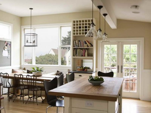 Designing an Open Modern Kitchen on the Dining Room