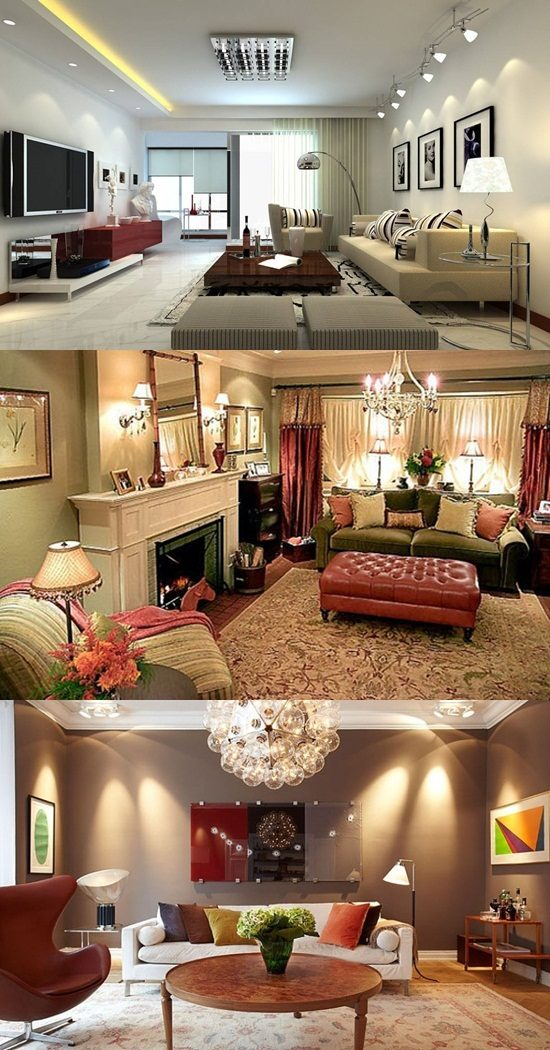Lighting Design Living Room: Different Kinds Of Lighting Fixtures For Your Living Room