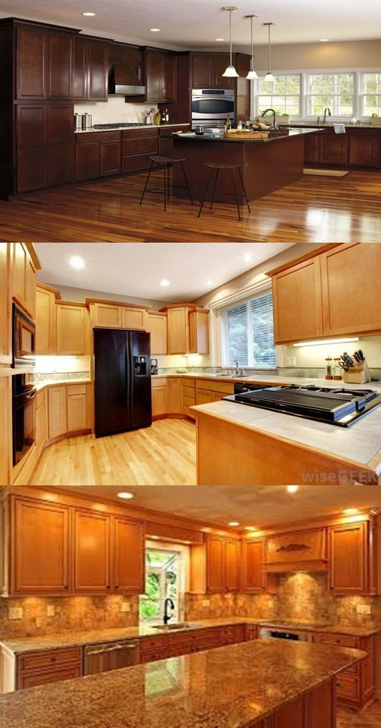 Types Stains Kitchen Cabinet And With Regard Wood