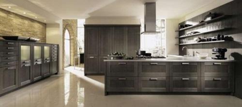Different arrangements for Italian kitchen work areas