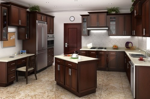 Different types of wood for kitchen cabinets interior design for Different kitchen designs