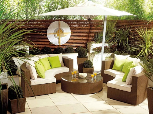 Elegant Outdoor Wicker Furniture Interior Design