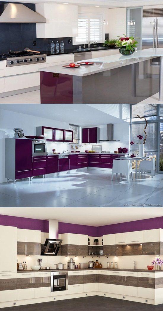 Italian Traditional Purple Kitchen Designs