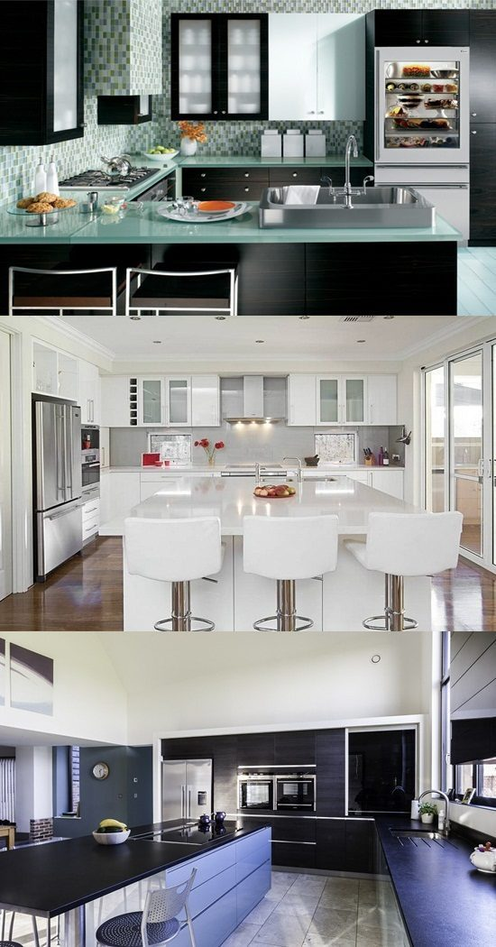 Kitchen Decorating Ideas – Glass Appliances