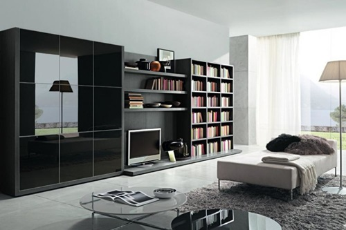 Living room cabinets – different designs - Interior design