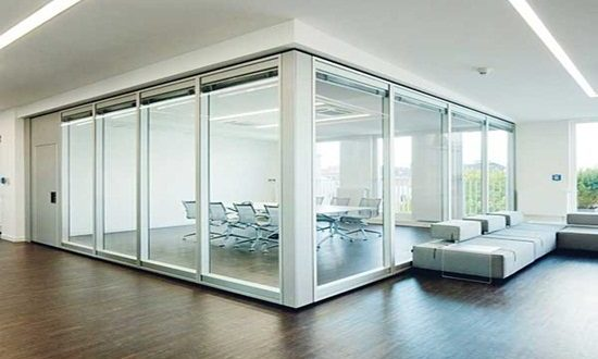 Glass Room Partitions modern glass room dividers - interior design
