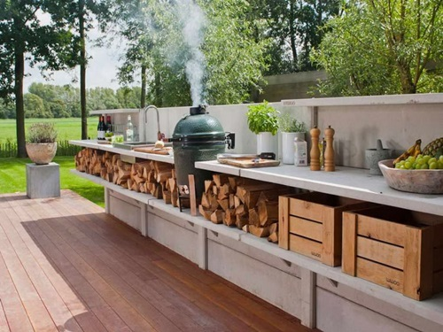 Modern outdoor kitchen design interior design for Modern outdoor kitchen designs