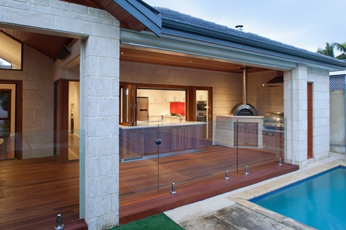 Outdoor Garden And Enough Money To Design A Wonderful Outdoor Kitchen