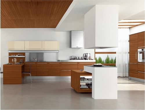Modern Wooden Kitchen with Luxury Finishes