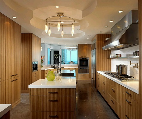 Modern Wooden Kitchen With Luxury Finishes Interior Design