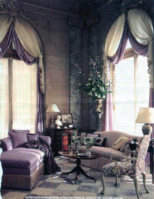 Modern and stylish window treatments for your living room for Modern living room window treatments