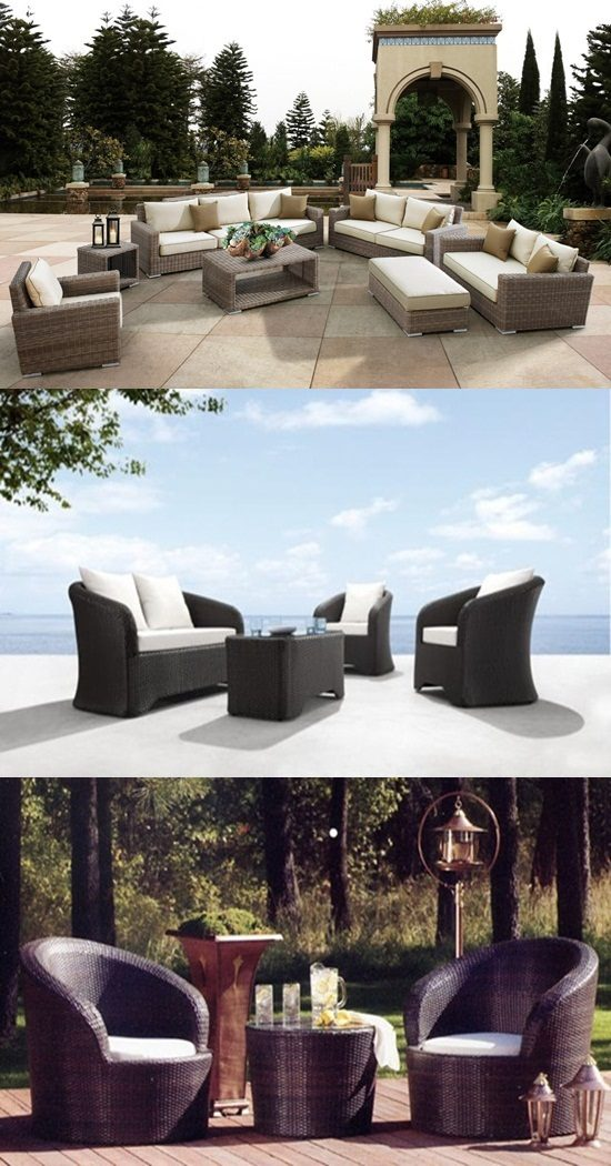 Outdoor furniture best materials teak aluminum wicker for Best material for outdoor furniture