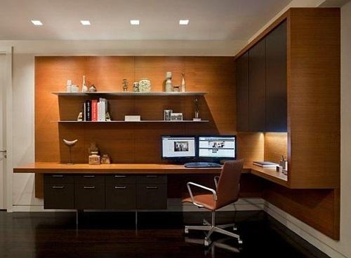 practical home office desk for living rooms interior design. Black Bedroom Furniture Sets. Home Design Ideas
