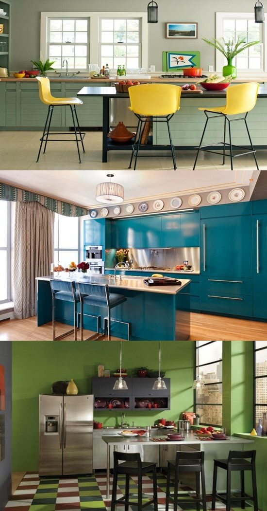 Pretty modern colors for your kitchen cabinet interior for Pretty kitchen paint colors